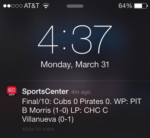 ESPN SportsCenter App, MLB At-Bat App, Sending Alerts That